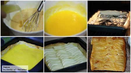 tarta de pera paso a paso