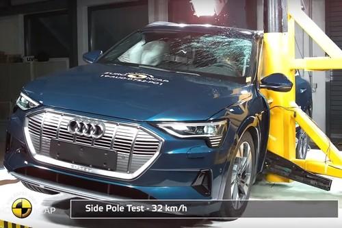 Los últimos coches eléctricos que ha estrellado Euro NCAP: del coche chino más seguro que el Porsche Taycan al Audi e-tron