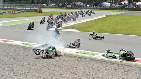 Supersport Monza 2013, accidente