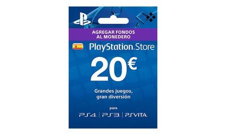 Comprando ahora la tarjeta con 20 euros de saldo para PSN en eBay, te ahorras unos euros al pagar 16,99 por ella