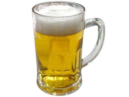 Análisis nutricional de un vaso de cerveza