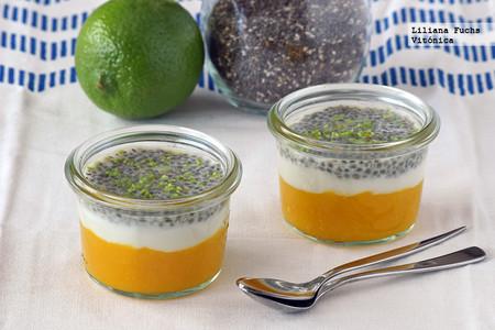 Recetas Saludables Ninos Vasitos Mango Yogur Chia