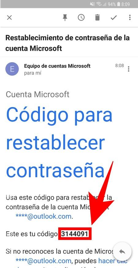 Codigo Restablecer
