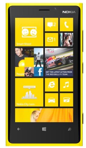 Nokia Lumia 920 de frente