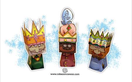 Los recortables de los tres Reyes Magos que estábais buscando