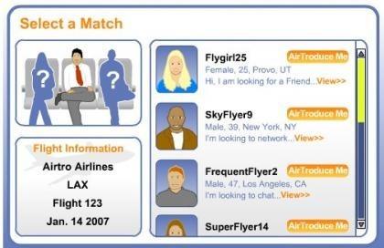 AirTroductions, selecciona tu compañero de asiento en el vuelo