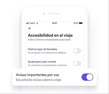 """'Avisos importantes por voz': la app de Cabify ahora """"le hablará"""" a usuarios con alguna discapacidad para hacer más accesibles los viajes"""