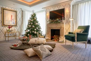 El Corte Inglés decora el Hotel Villa Magna por Navidad con estos ambientes tan inspiradores