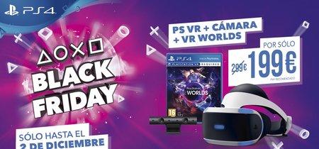 Sony rebaja PlayStation VR a 199,99 euros y varios títulos clave de PS4 en físico por el Black Friday