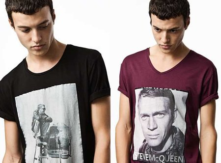 Steve McQueen, protagonista de una colección de camisetas de Zara