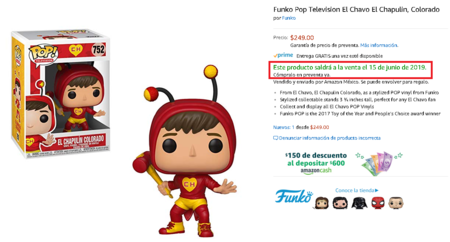 Funko Pop Chapulin Colorado Amazon Mexico