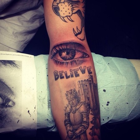justin bieber tattos