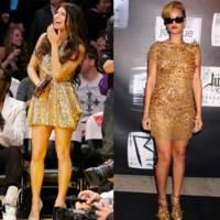 Estas navidades lleva un vestido dorado, por Rihanna y Fergie