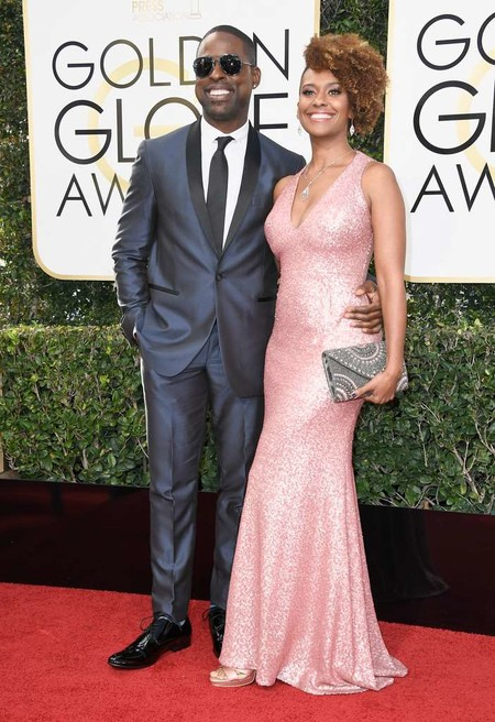 Ryan Michelle Bathe Sterling K Brown Golden Globes Wards 2017 Red Carpet