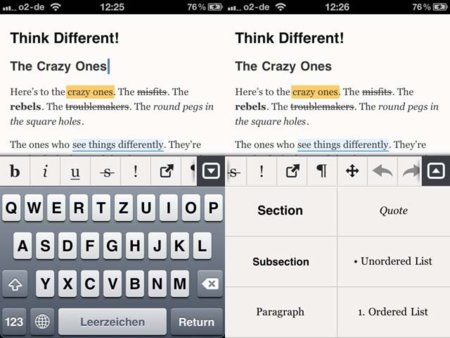 El procesador de texto Essay llega al iPhone