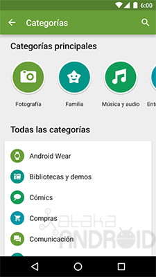 Nuevo Google® Play