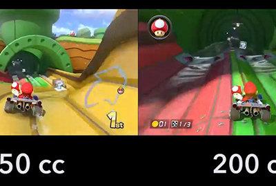 Nintendo nos muestra la nueva velocidad de Mario Kart 8 con una comparativa