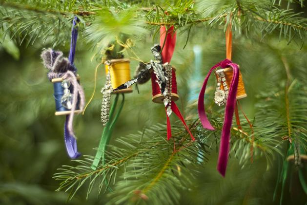 Carretes navideños para el árbol de Navidad