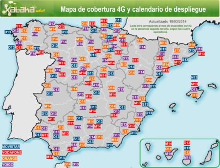 Mapa 4g Lte Espana