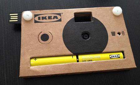 Llega la cámara de Ikea. No es de palo, es de cartón