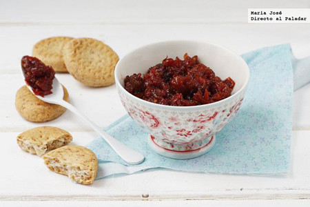 Receta de tamatar chatni o chutney de tomate hindú