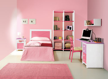 Una habitación...¿en rosa pálido?