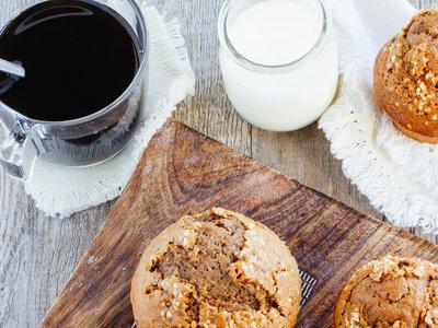 Muffins de chocolate y café. Receta fácil