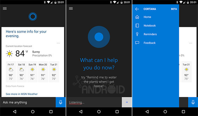 Cortana for Android Leaked Beta Version of Microsoft's Personal Assistant - tinoshare.com