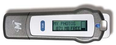 Memorias USB con pantalla LCD de Memorex