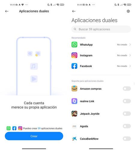 Xiaomi Aplicaciones Duales