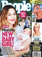 Totalmente adorable Drew Barrymore presentándonos a su nena