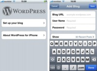 Wordpress para iPhone ya disponible en la AppStore
