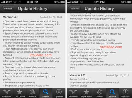 Primeras filtraciones de la próxima versión del cliente de Twitter oficial para iOS