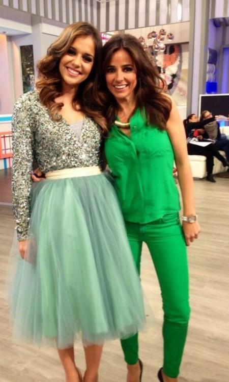 falda tul verde