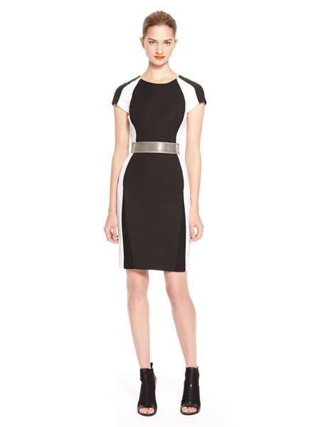 Vestido bicolor DKNY
