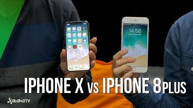 iPhone X frente a iPhone 8 Plus