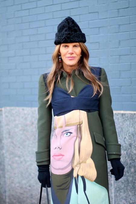 Street Style Semana de la Moda de Nueva York: Anna Dello Russo adora Prada