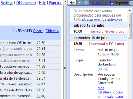 GmailAgenda, accede a tus próximos eventos de Google Calendar desde Gmail