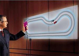 Scalextric magnético para la pared de Tyco