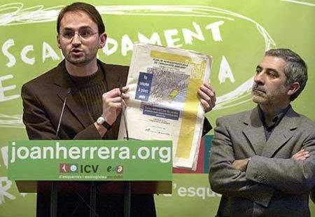 Elecciones al Parlament / La coalición de Herrera (ICV) con los que apoyaron el canon digital