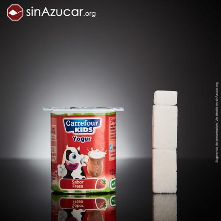 azúcar en yogur