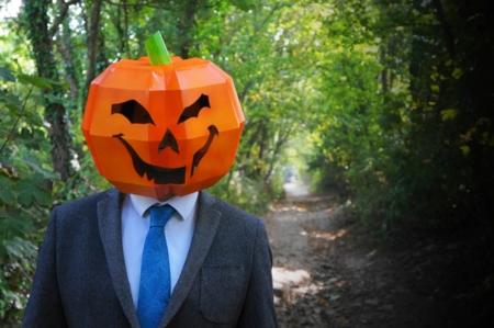 Máscaras de Halloween de cartón