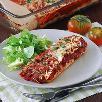 Enchiladas de pollo asado y salsa de tomate: receta de aprovechamiento