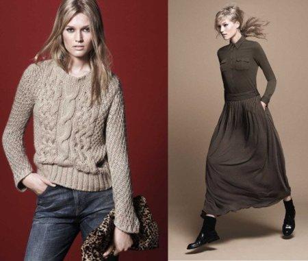 Zara, catálogo Otoño-Invierno 2010/2011. Vestido