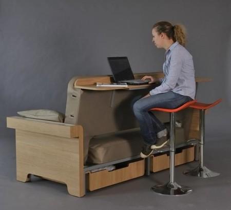 Sof Mesa Cama Y Mueble De Almacenaje Cuatro En Uno
