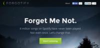 Forgotify: descubriendo canciones nunca escuchadas