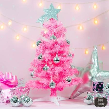 Arbol Arbolito Navidad Pink Rosa Con Estrella Y Disco Balls D Nq Np 606426 Mla28639783888 112018 F