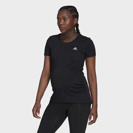 Camiseta Essentials Cotton Premama Negro Gv6578 21 Model
