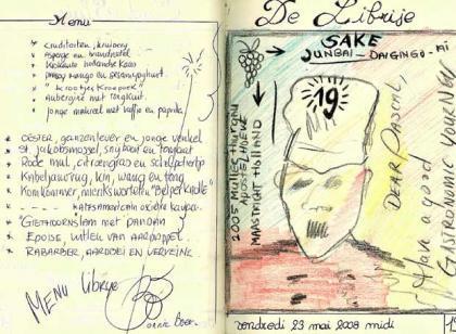 Hoja del cuaderno del desaparecido Pascal Henry