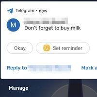 Android te permitirá crear un recordatorio a partir de la notificación de un mensaje